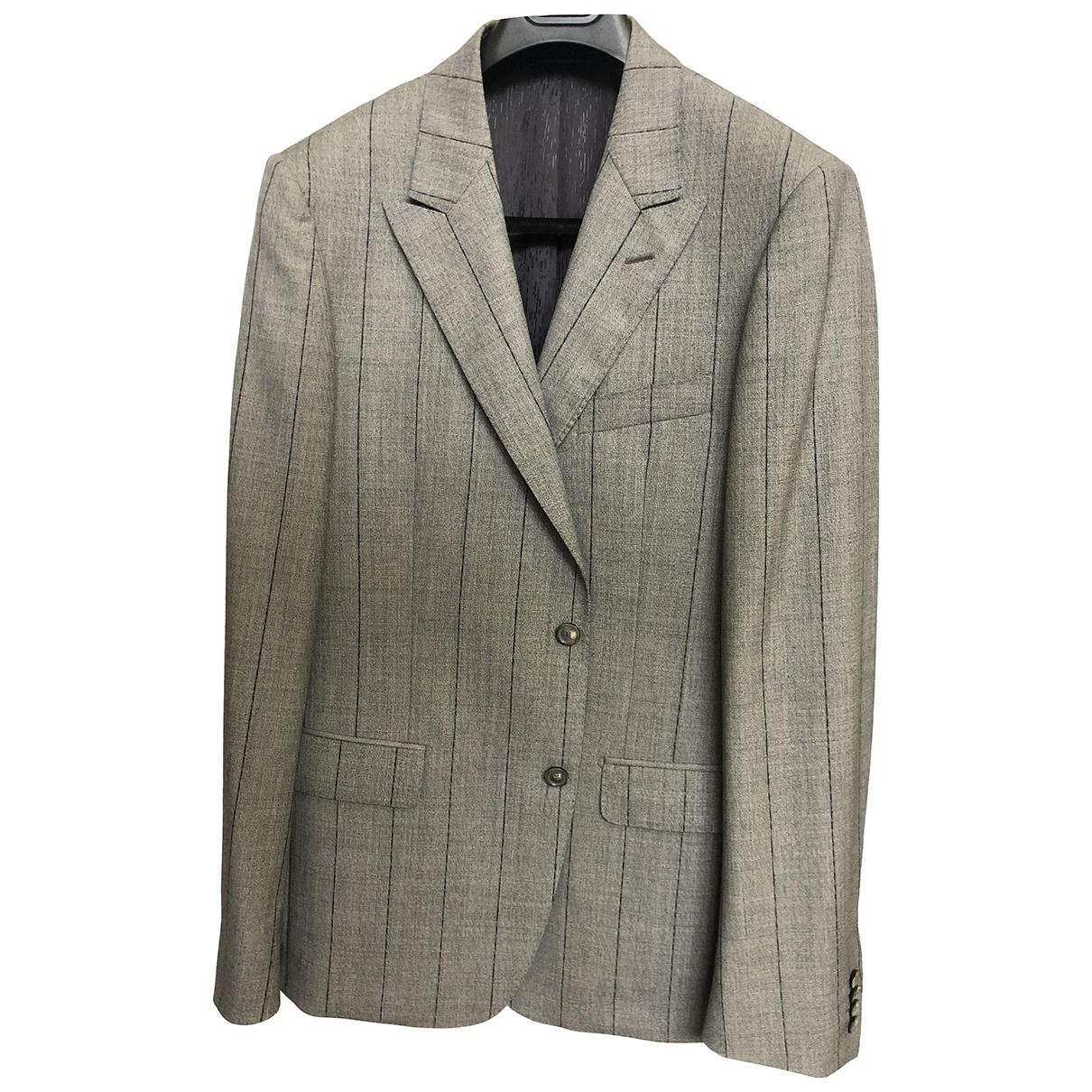Versace - Vestes.Blousons   pour homme en laine - gris