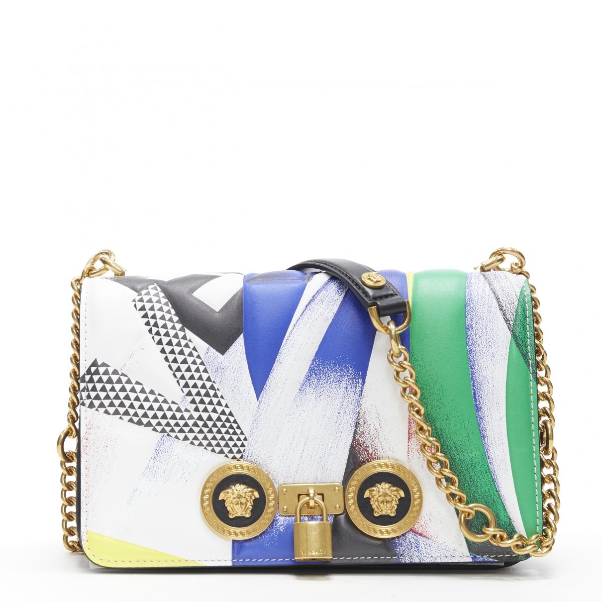 Versace - Sac a main   pour femme en cuir - multicolore
