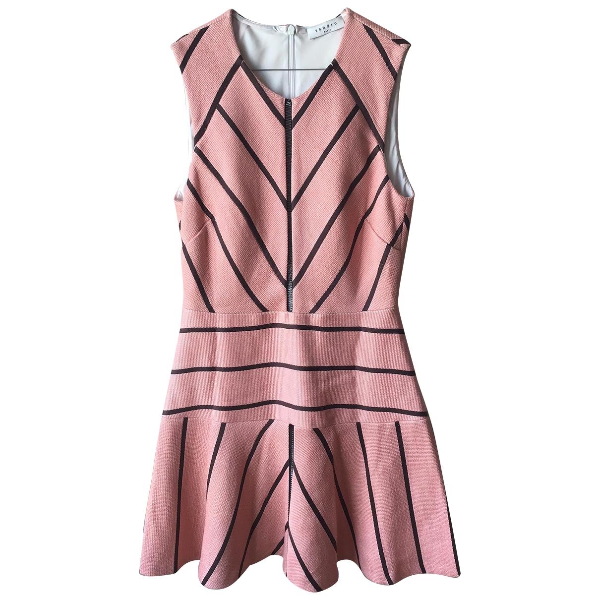 Sandro \N Kleid in  Rosa Baumwolle