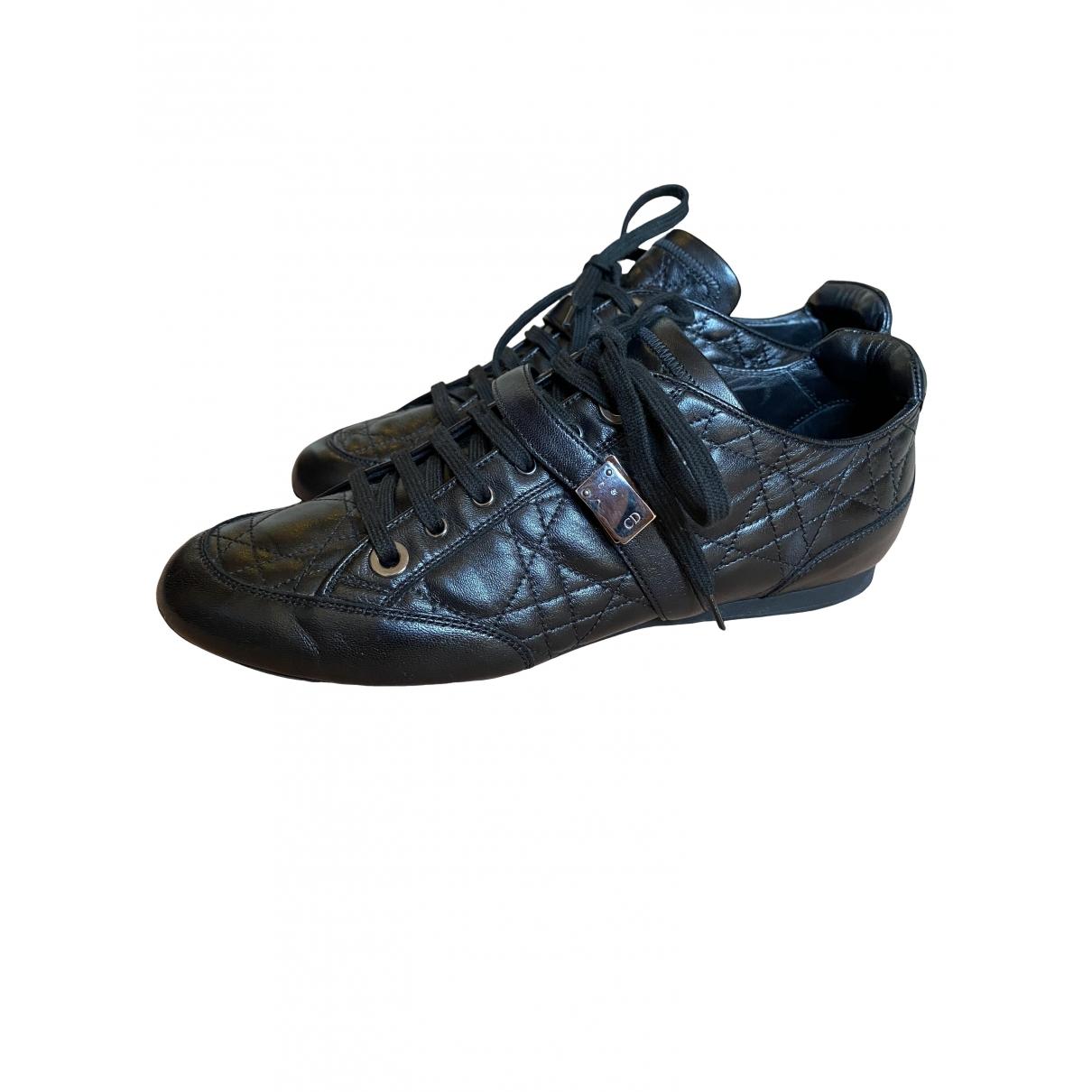 Dior - Baskets   pour femme en cuir - noir