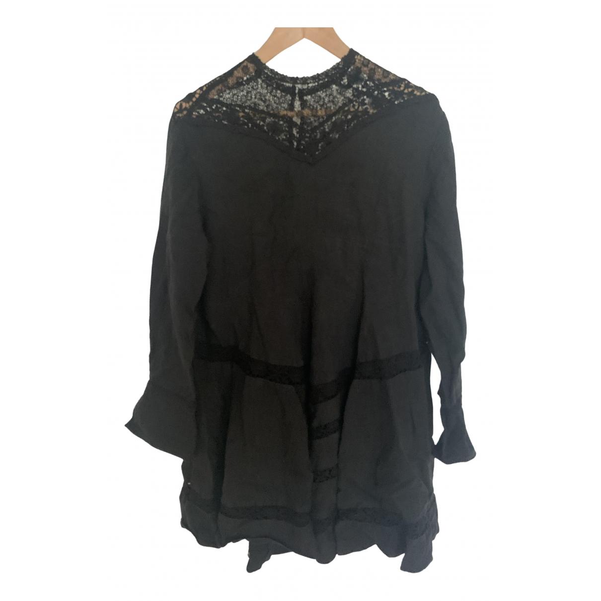 Isabel Marant \N Kleid in  Schwarz Leinen