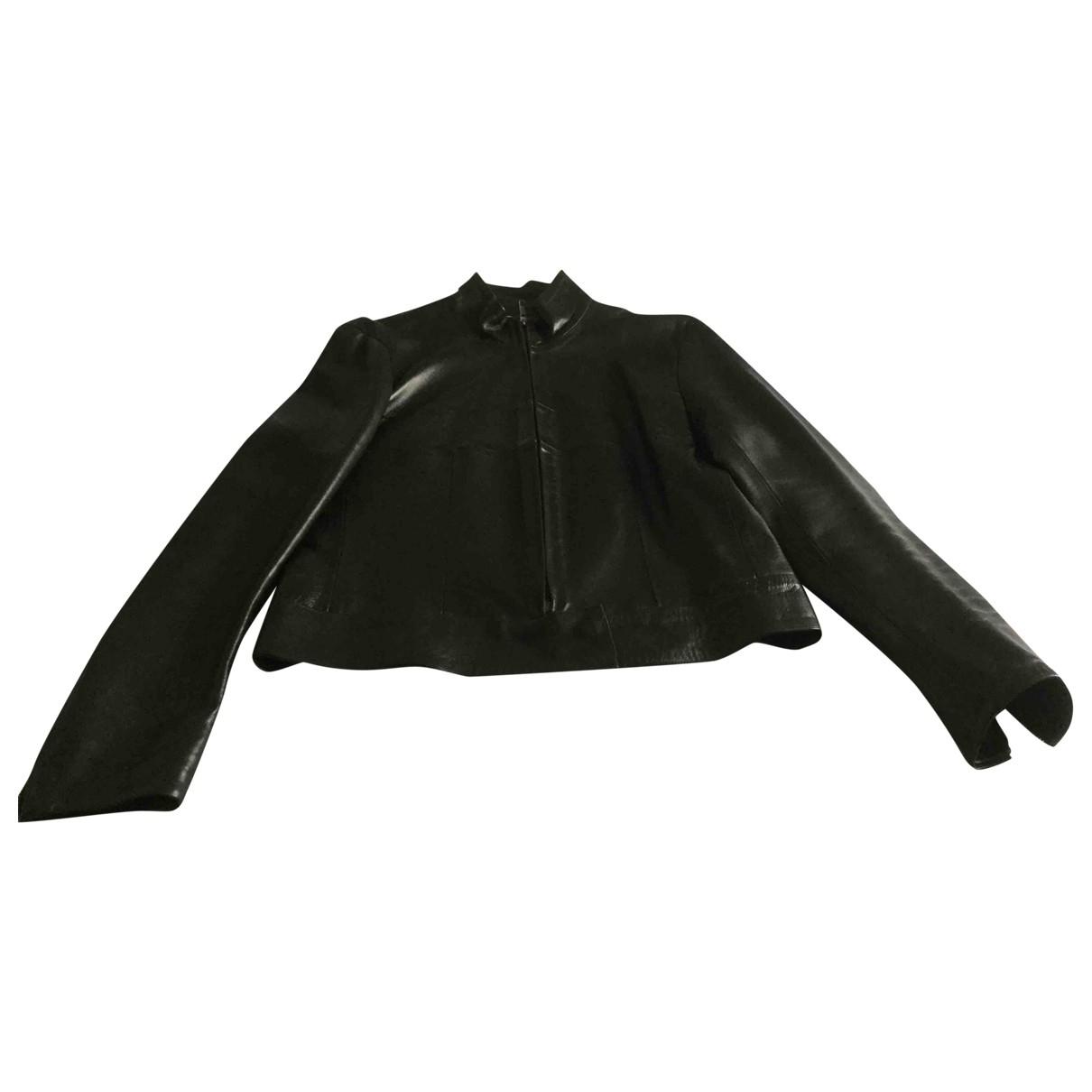 Gerard Darel - Blouson   pour femme en cuir - noir