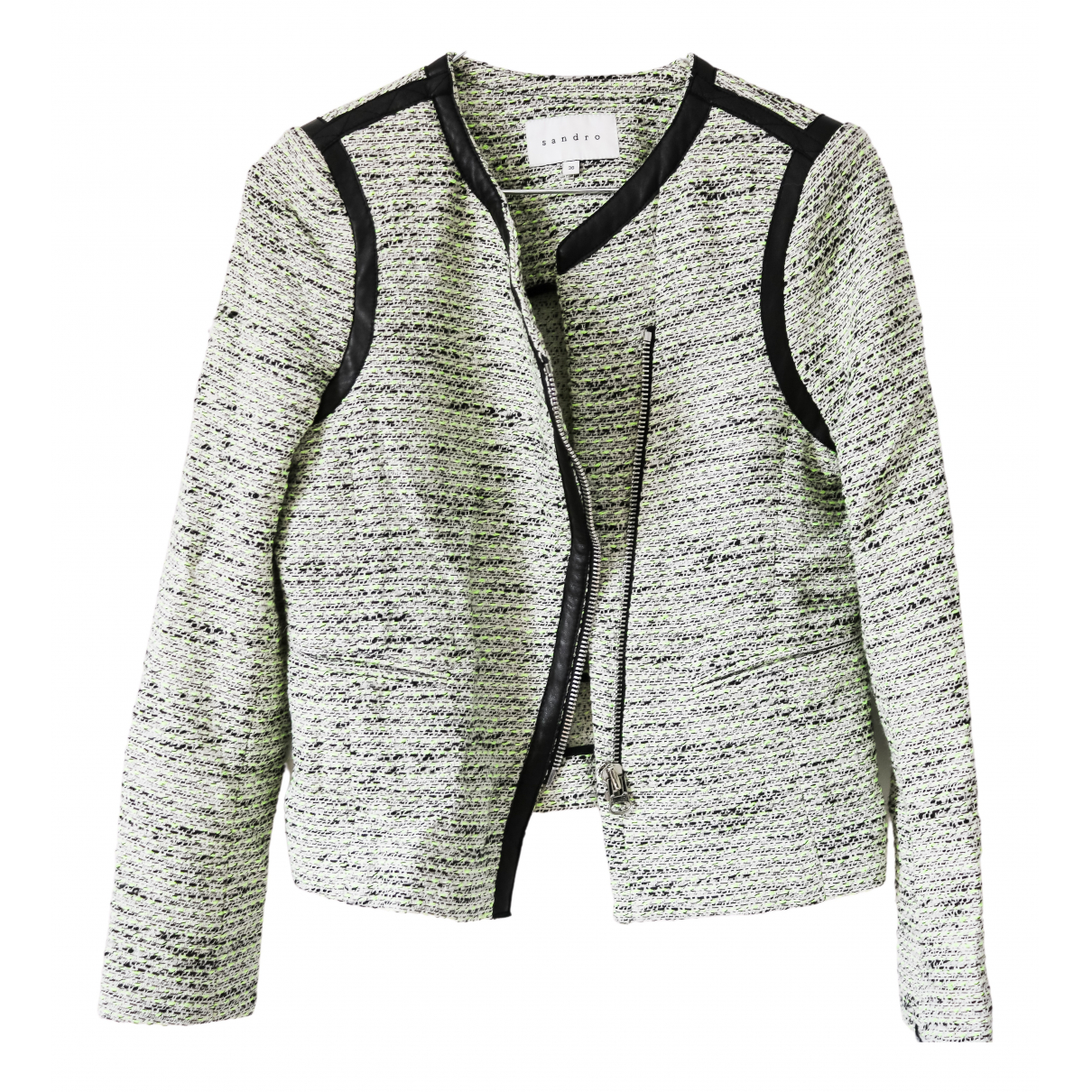 Sandro - Veste   pour femme en tweed - vert