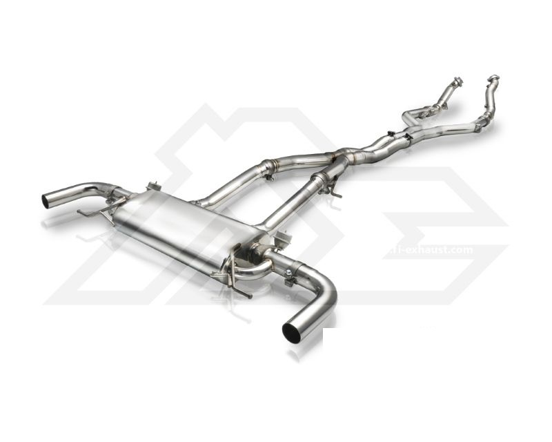 FI Exhaust MB-253A-CBV Front and Mid- X Pipe Valvetronic Muffler Mercedes-BENZ AMG GLC43 2017