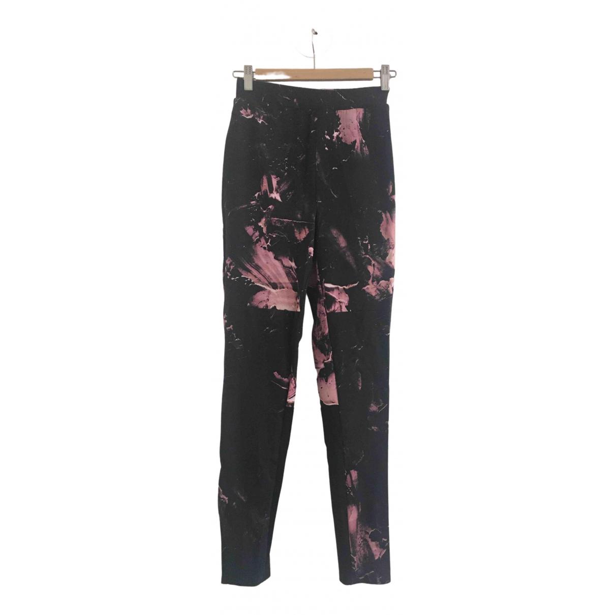 Avoc \N Black Spandex Trousers for Women 34 FR