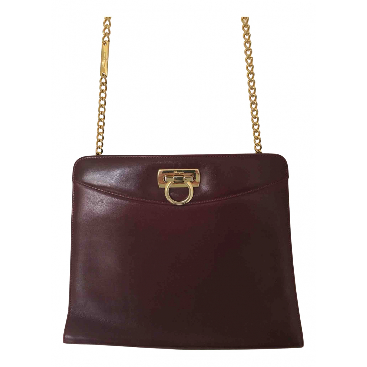Salvatore Ferragamo N Burgundy Leather handbag for Women N