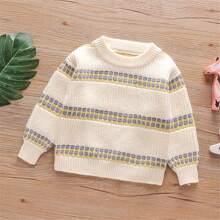 Pullover mit Punkten Muster