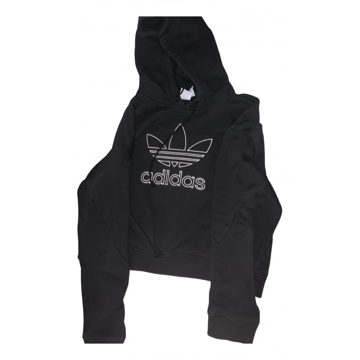 Adidas \N Pullover in  Schwarz Baumwolle