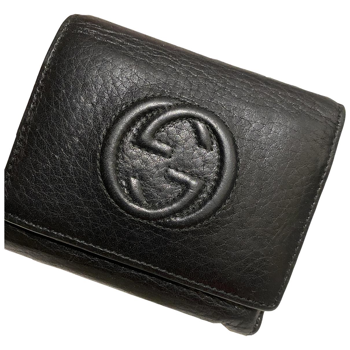 Gucci - Portefeuille Soho pour femme en cuir - noir