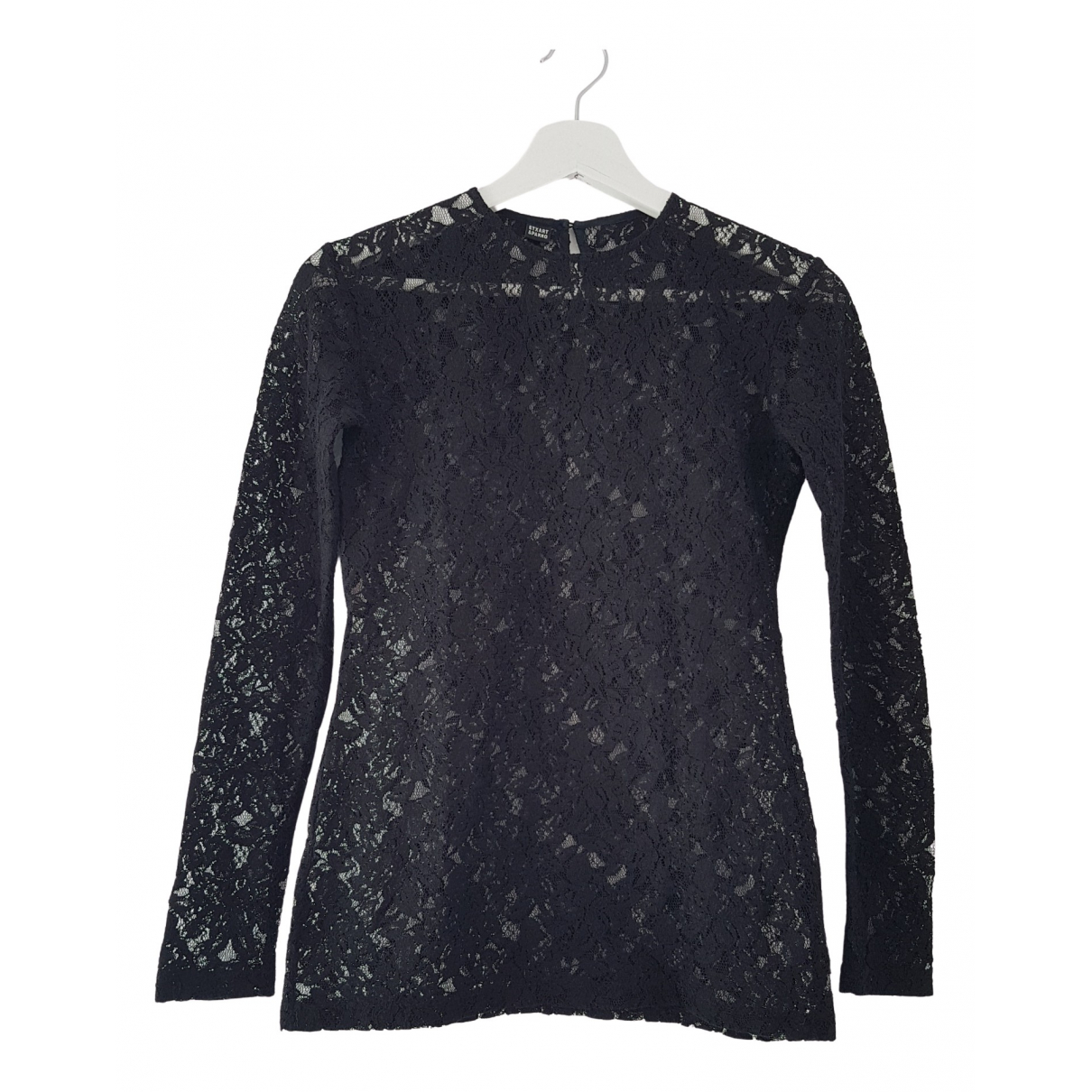 Non Signé / Unsigned N Black Cotton  top for Women S International
