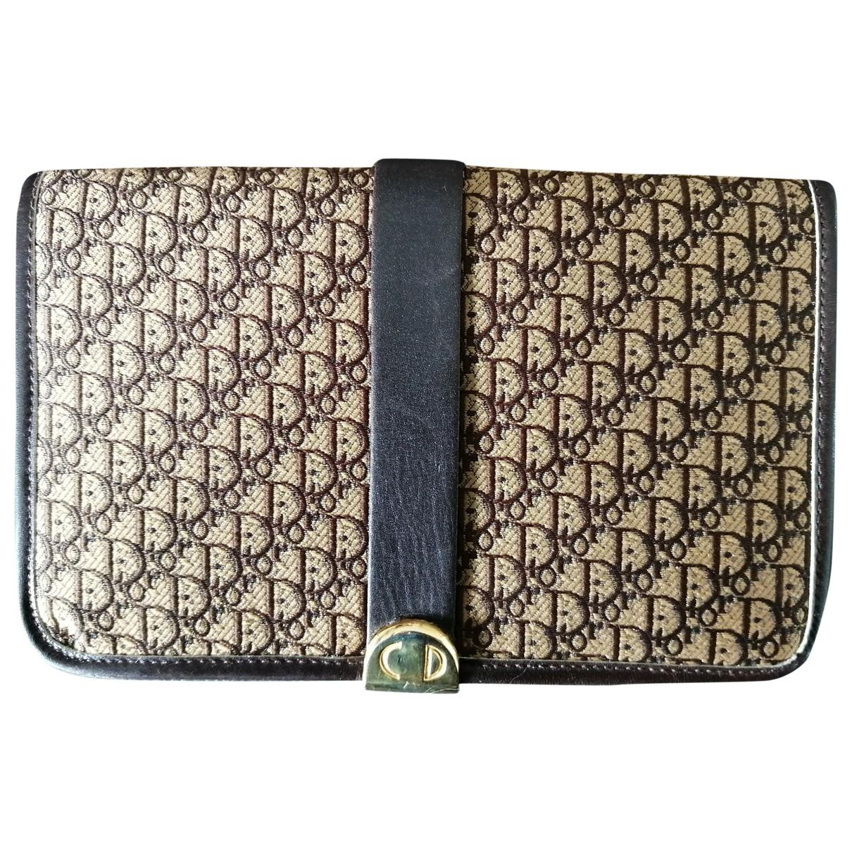 Dior \N Brown Cloth wallet for Women \N