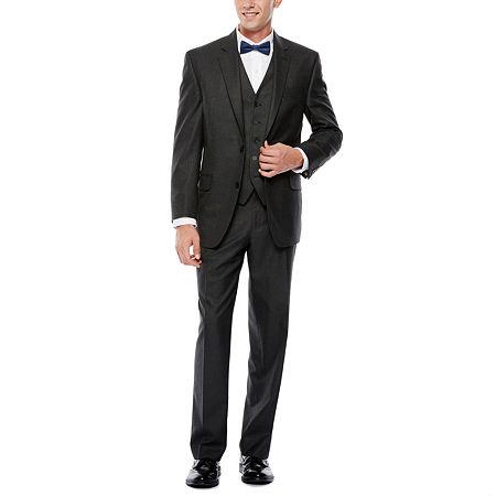IZOD Gray Sharkskin Suit Jacket - Classic Fit, 48 Long, Gray