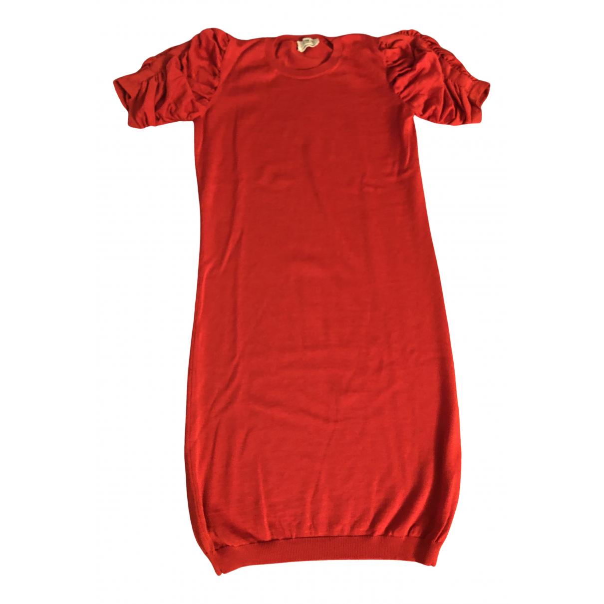 Yves Saint Laurent \N Kleid in  Rot Wolle