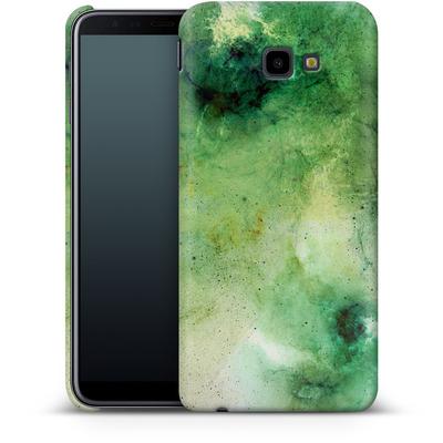 Samsung Galaxy J4 Plus Smartphone Huelle - Abstract Galaxy - Green von Barruf