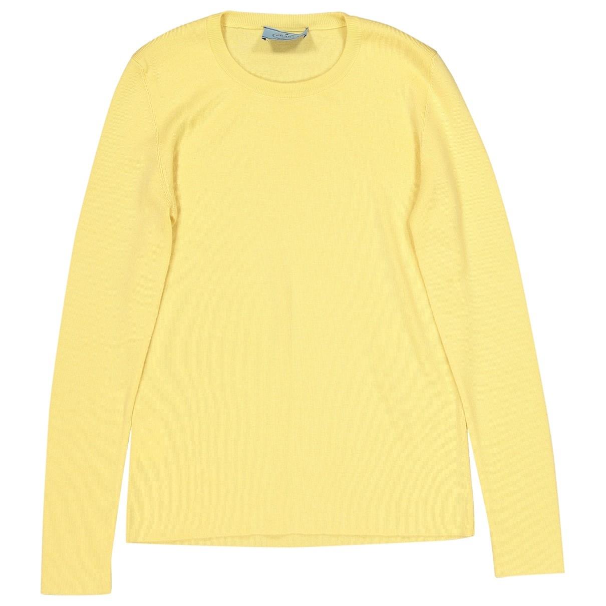 Prada \N Yellow Cashmere Knitwear for Women 42 IT