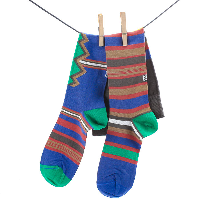 OYBO, Kenya Unisex Knee Socks, blue Größe 39-41