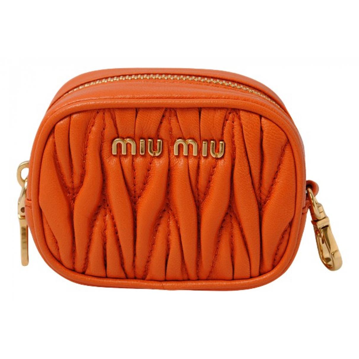 Miu Miu \N Kleinlederwaren in  Orange Leder