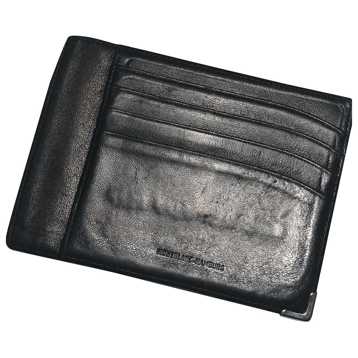 Montblanc - Petite maroquinerie   pour homme en cuir - noir