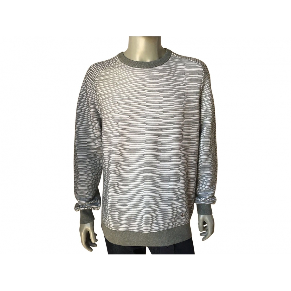 Louis Vuitton \N Pullover.Westen.Sweatshirts  in  Grau Baumwolle