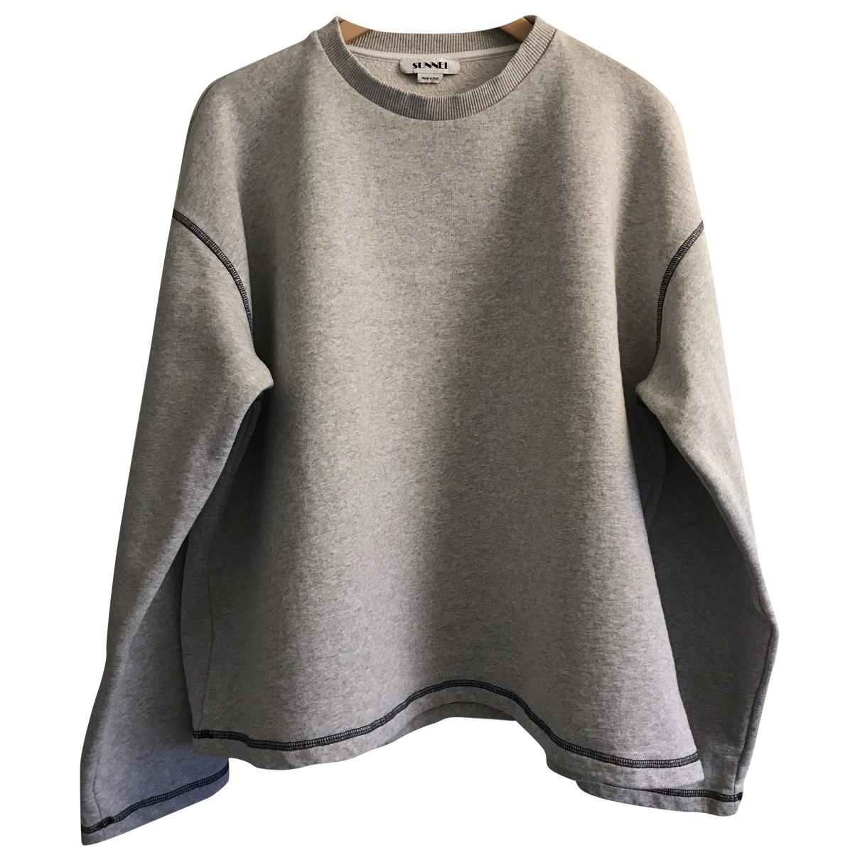 Sunnei \N Pullover.Westen.Sweatshirts  in  Grau Baumwolle