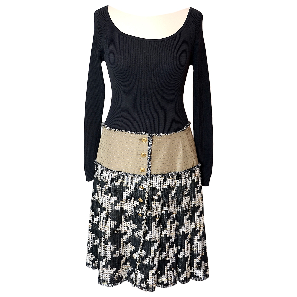 Chanel \N Black Cotton skirt for Women 40 FR