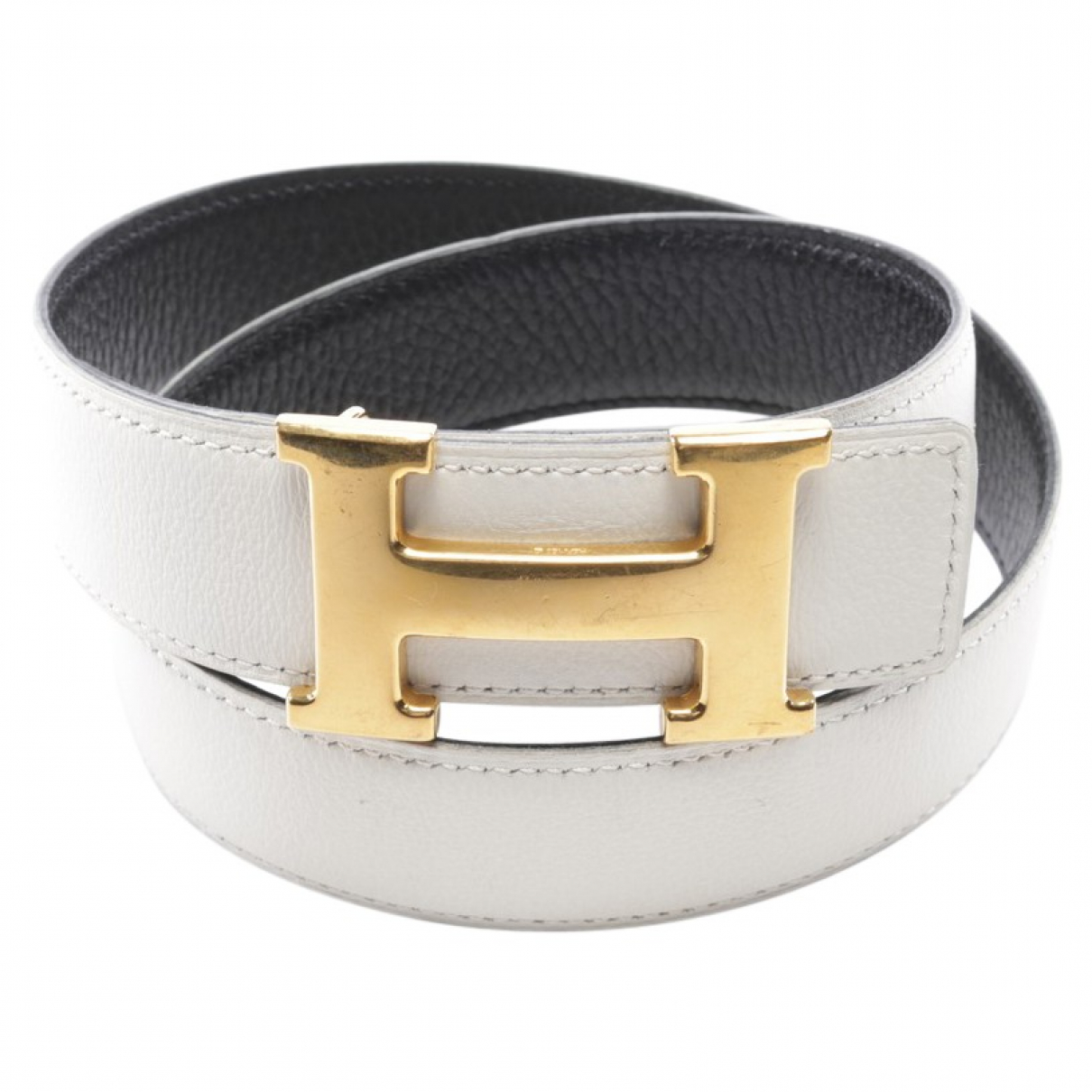 Hermès \N White Leather belt for Women 70 cm