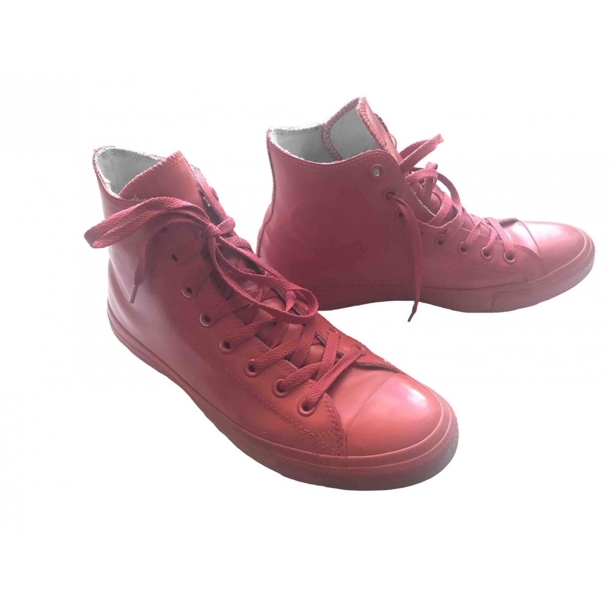 Converse - Baskets   pour homme en caoutchouc - rouge
