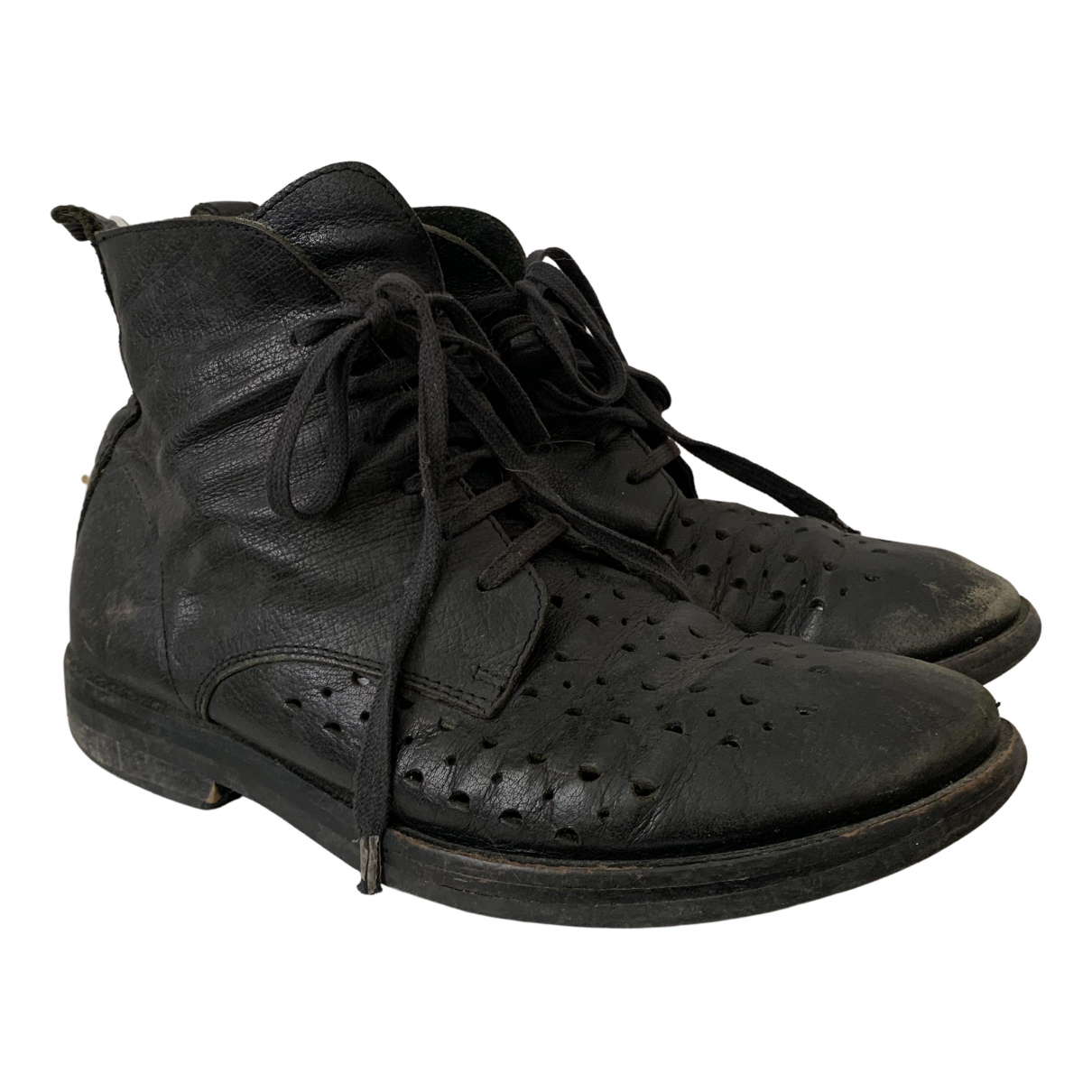 Ann Demeulemeester - Boots   pour femme en cuir - noir