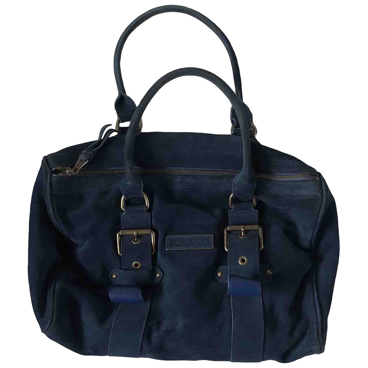 Longchamp Kate Moss Blue Suede handbag for Women \N