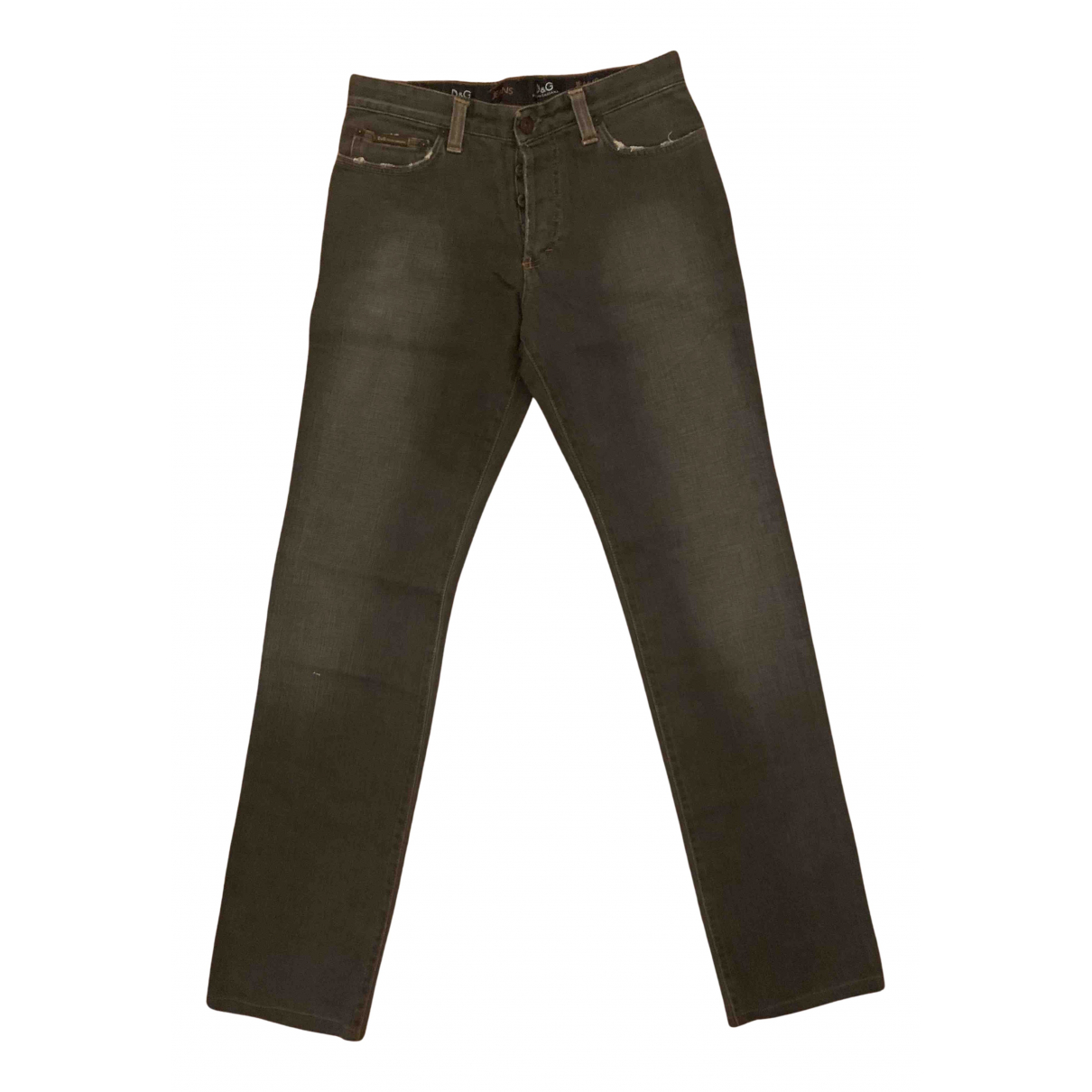 D&g N Grey Cotton - elasthane Jeans for Men 30 US