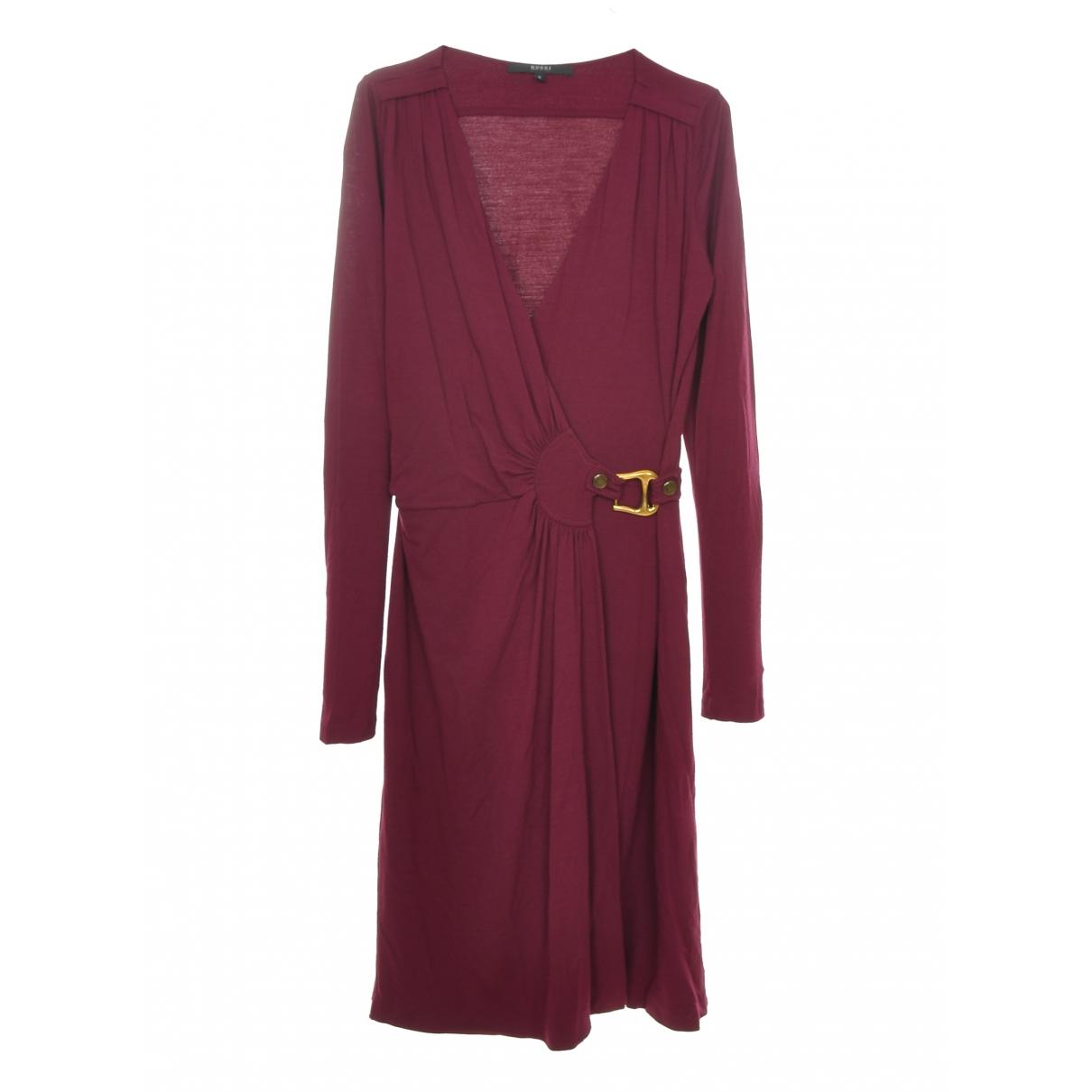 Gucci \N Kleid in  Bordeauxrot Viskose