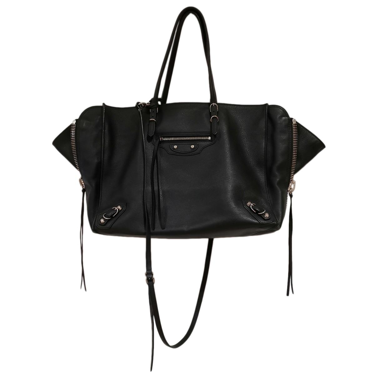 Balenciaga - Sac a main Papier pour femme en cuir - noir