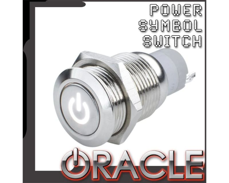 Oracle Lighting 2050-006 Pre-Wired Power Symbol Flush Mount Led Switch Yellow Momentary