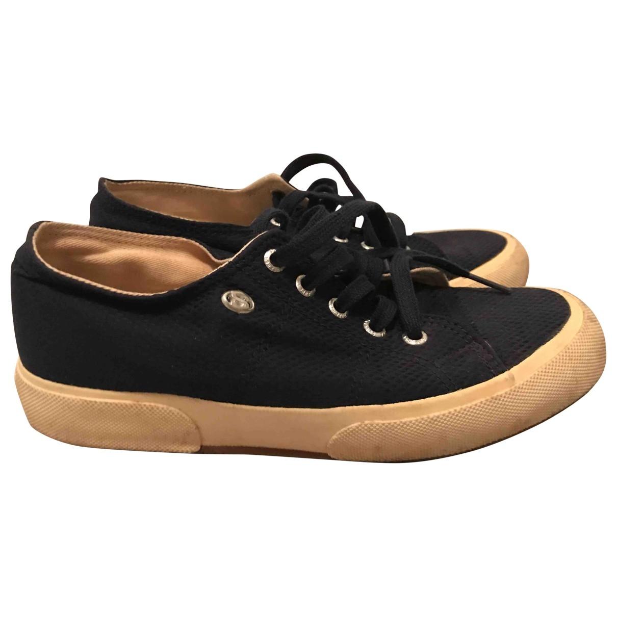 Superga \N Sneakers in  Blau Leinen
