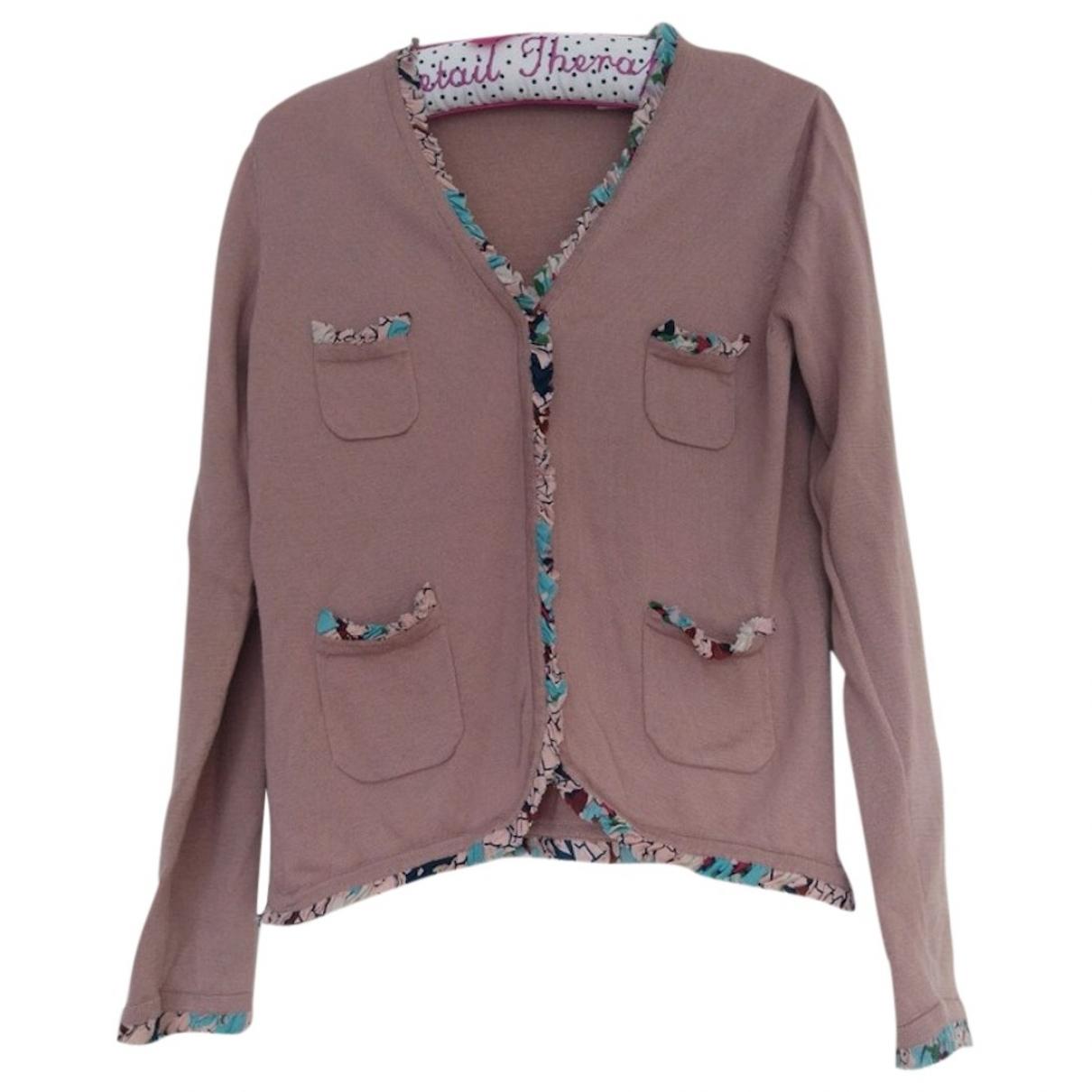 Cacharel - Pull   pour femme en laine - rose