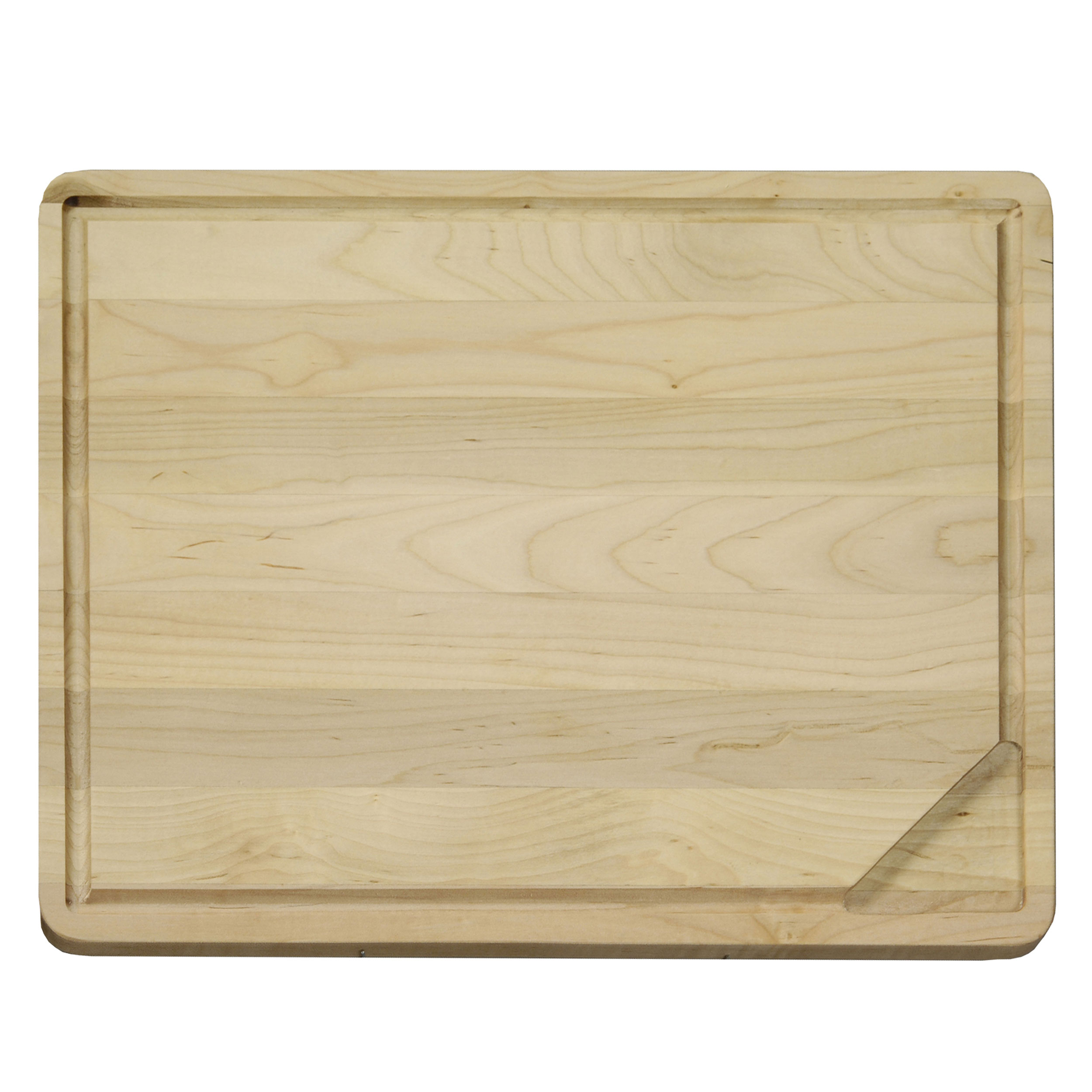 Large 18 X 14 inch Reversible Hardwood Cutting Board with Gravy Groove & Well