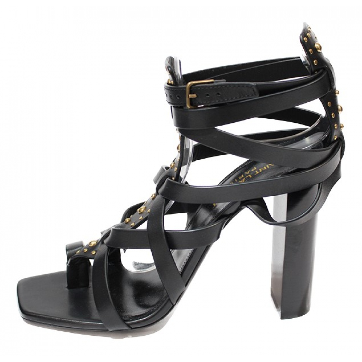 Saint Laurent \N Sandalen in  Schwarz Leder