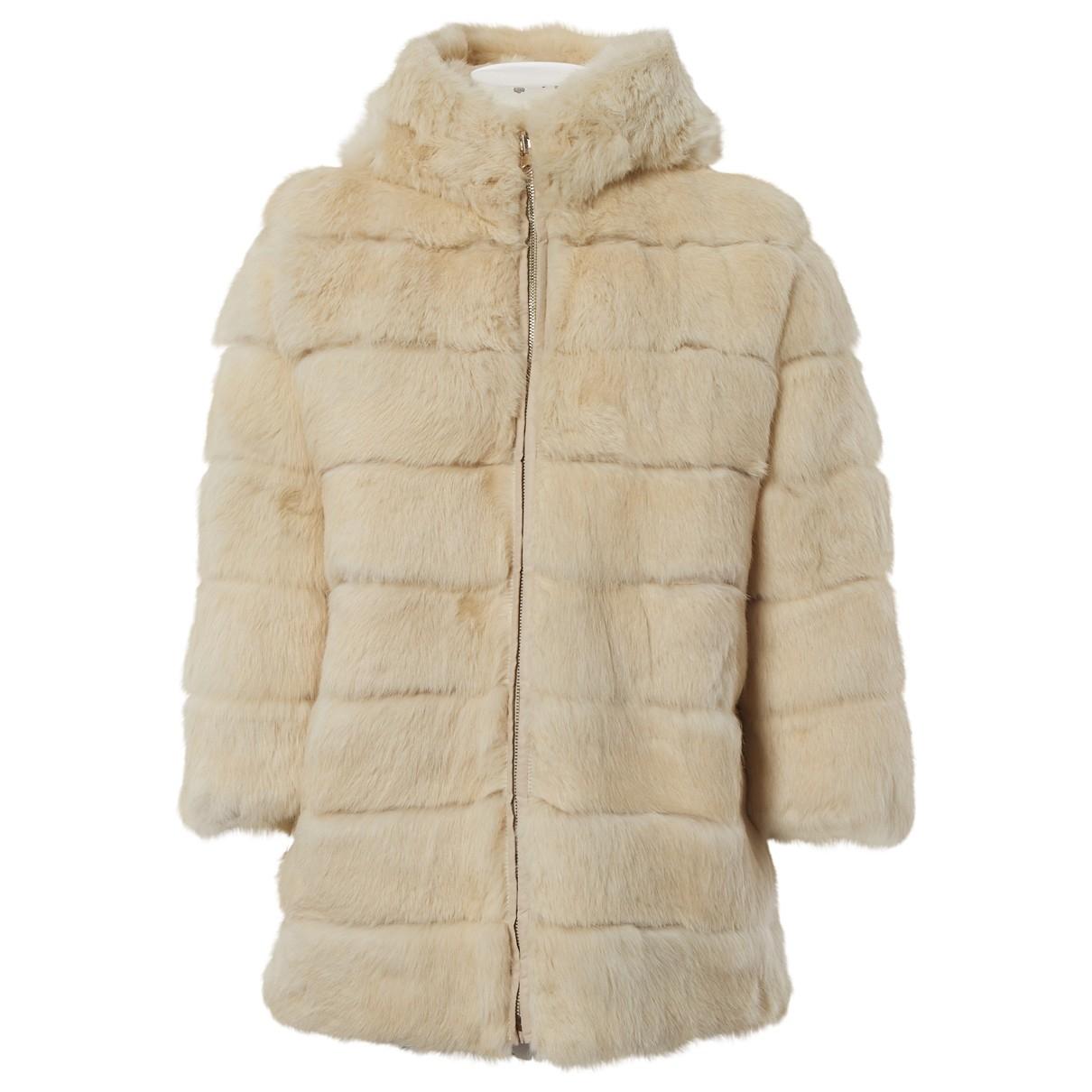Blumarine \N Ecru Rabbit coat for Women 42 IT