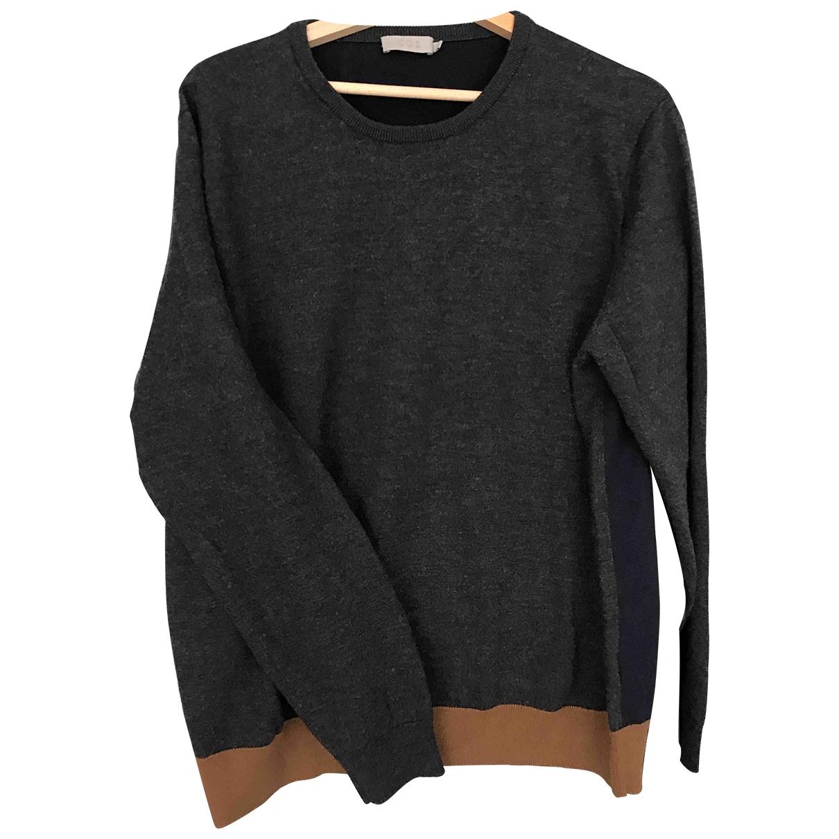 Cos \N Pullover.Westen.Sweatshirts  in  Grau Wolle