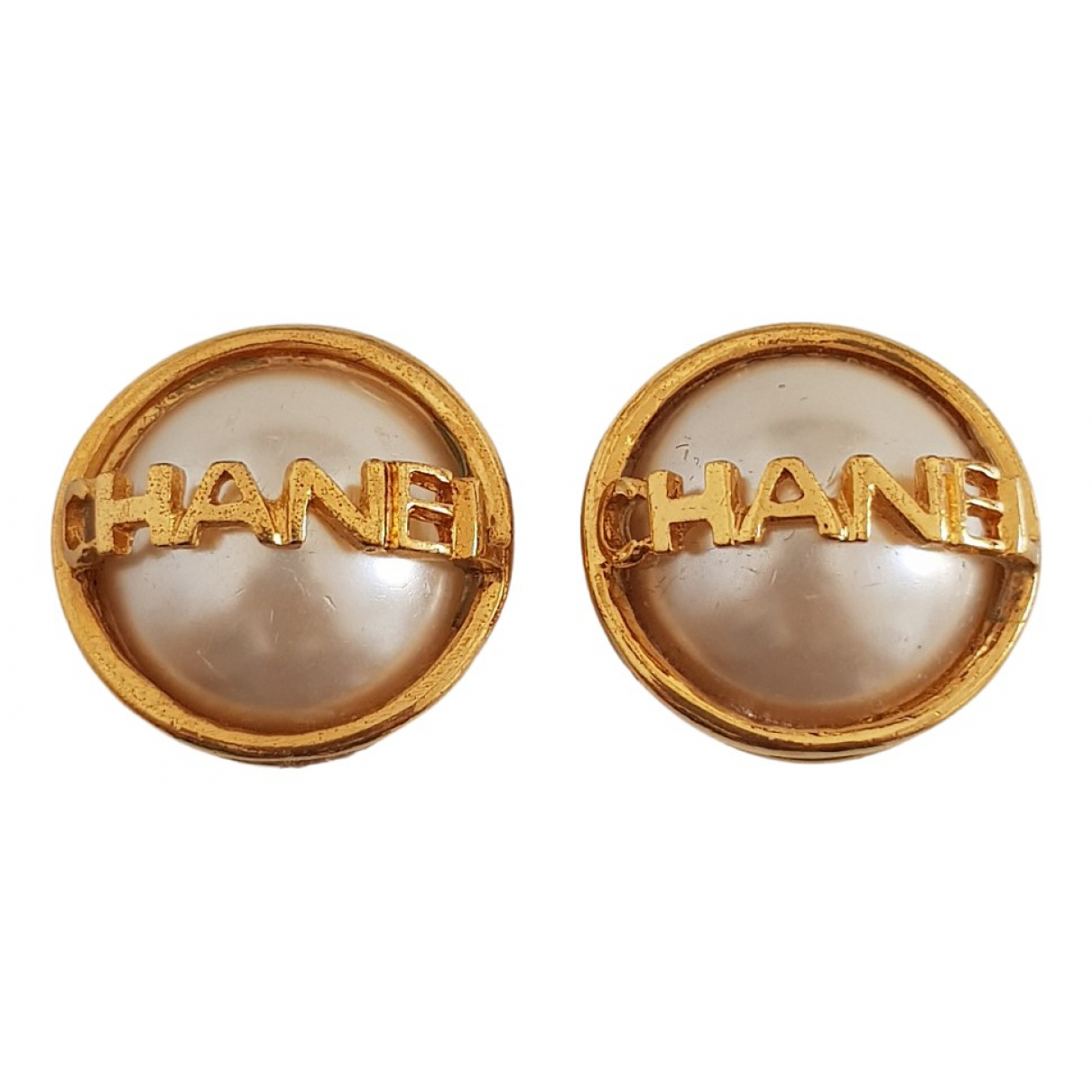 Chanel CHANEL OhrRing in  Gold Metall