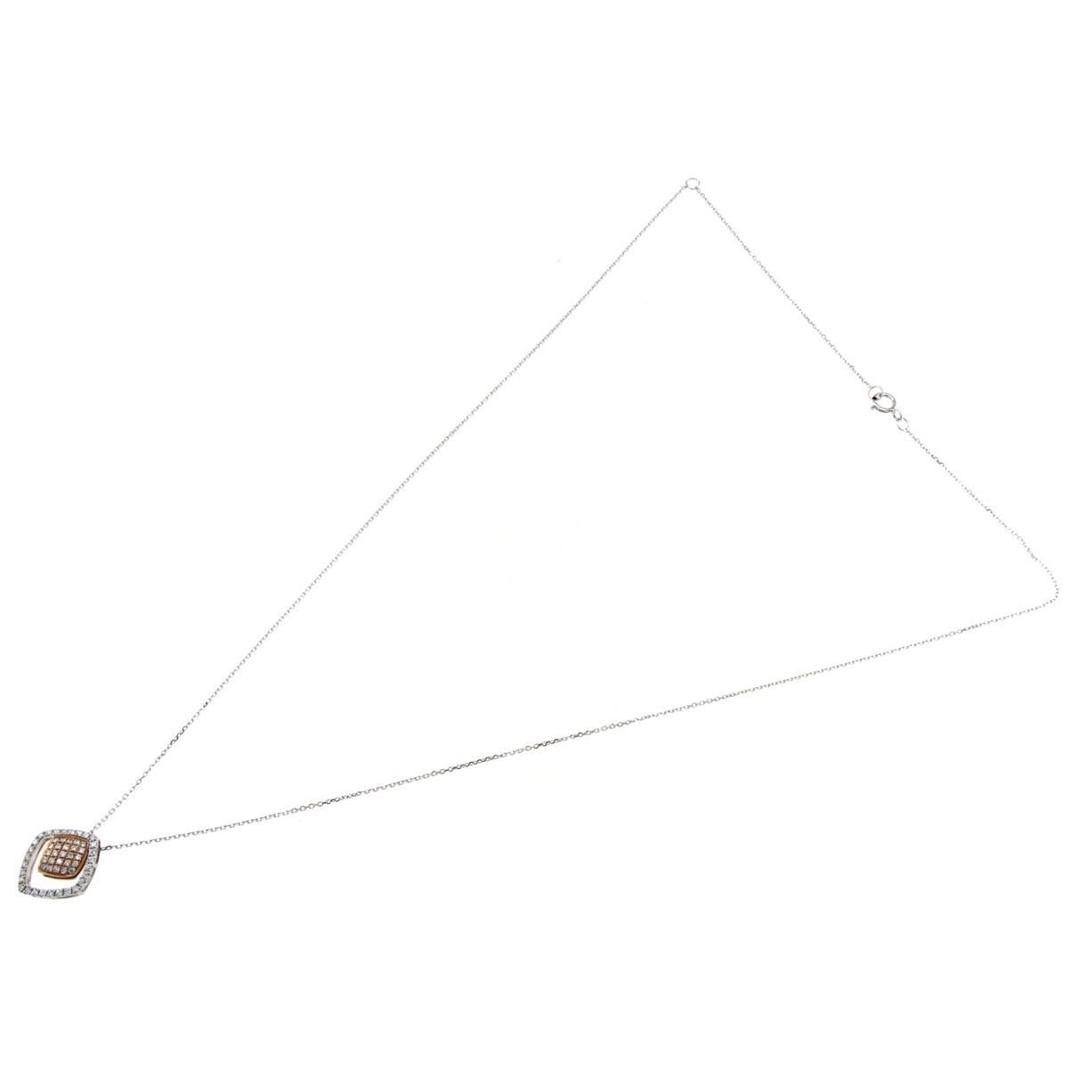 Collar Motifs Coeurs de Oro blanco Non Signe / Unsigned