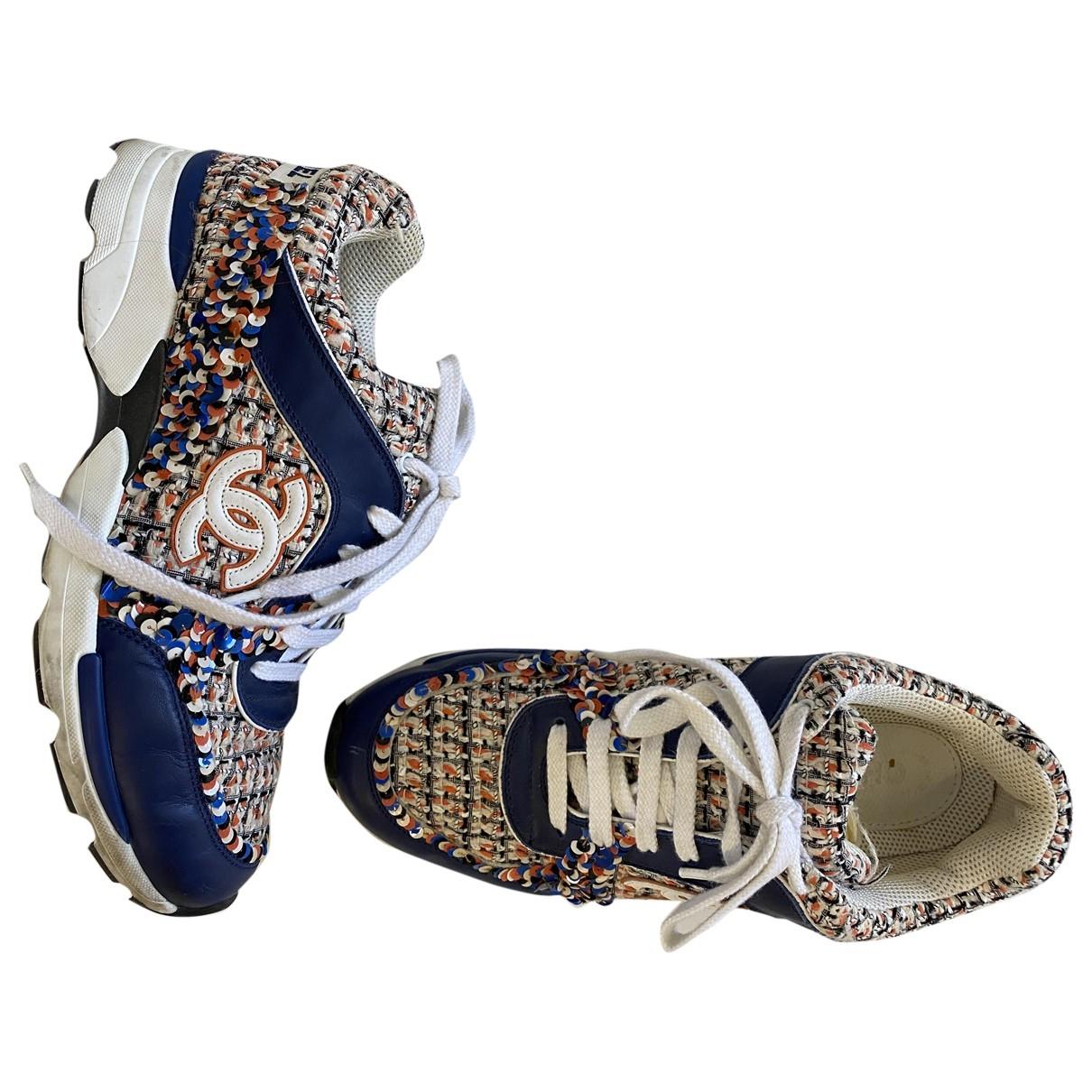 Chanel \N Sneakers in  Ecru Tweed