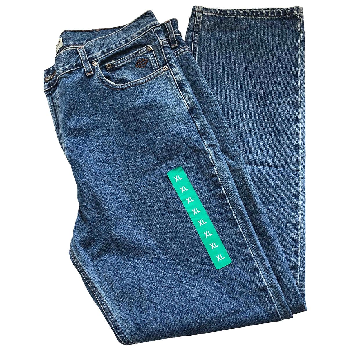 Non Signé / Unsigned \N Blue Cotton Jeans for Men 36 US