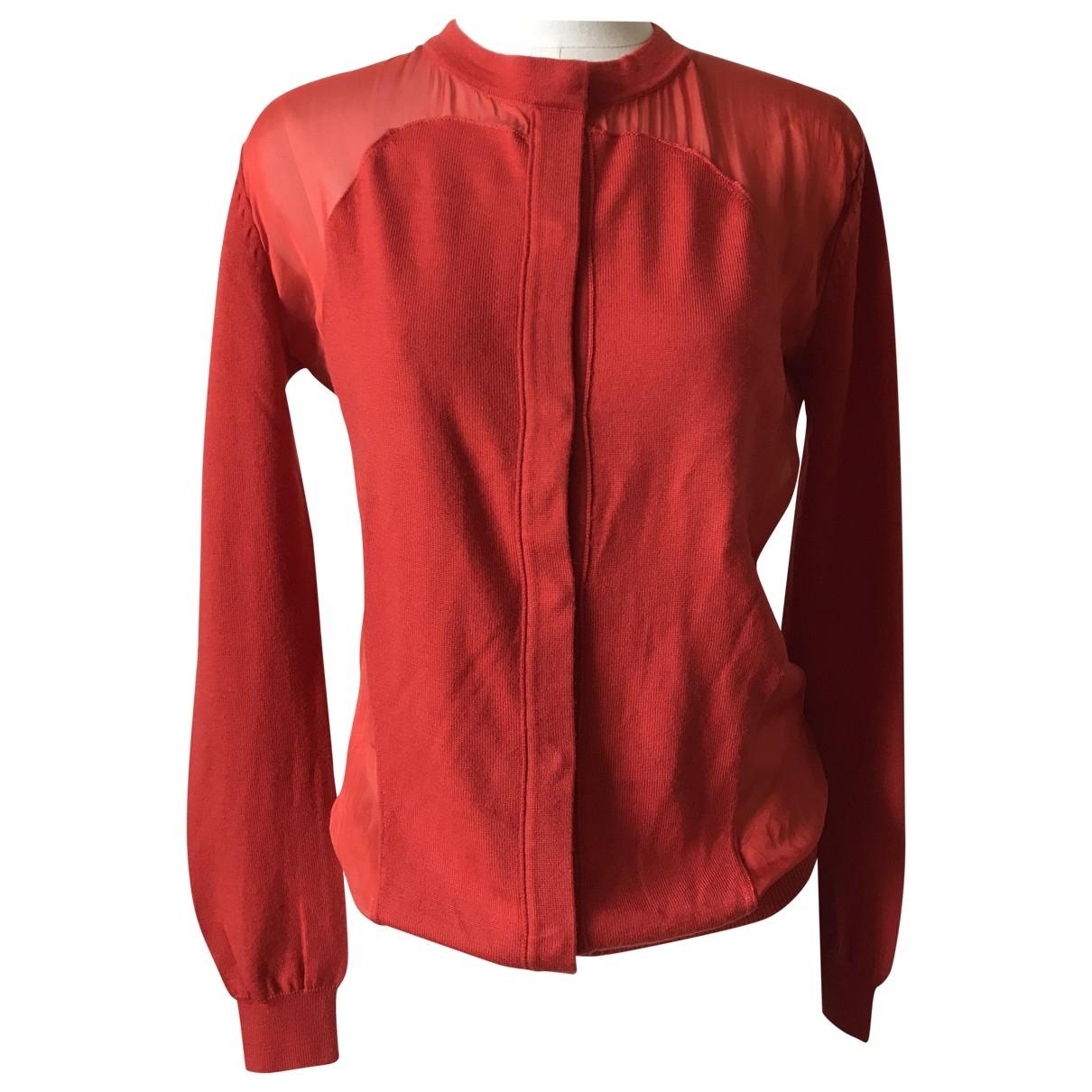 Rue Du Mail - Pull   pour femme en laine - rouge