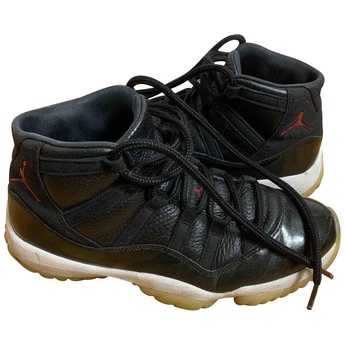 Jordan Air Jordan 11 Sneakers in  Schwarz Leder