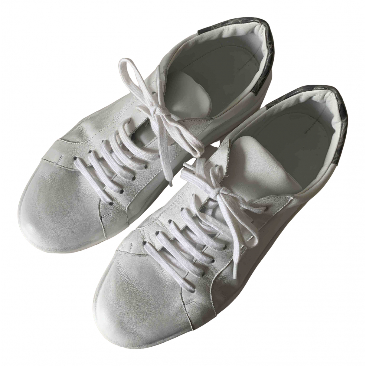 Jil Sander N White Leather Trainers for Women 38 IT