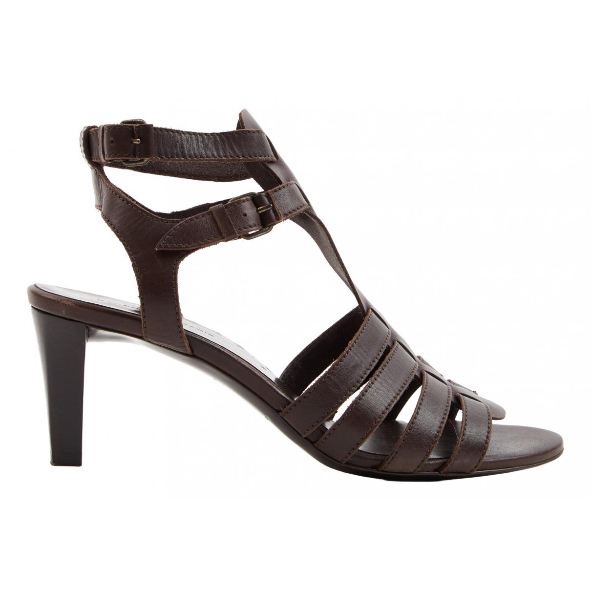 Balenciaga N Brown Leather Sandals for Women 38.5 EU