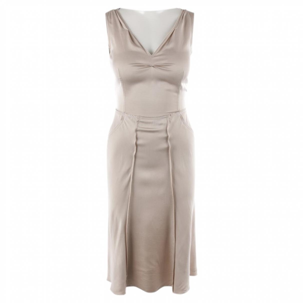Prada \N Beige Silk dress for Women 36 FR