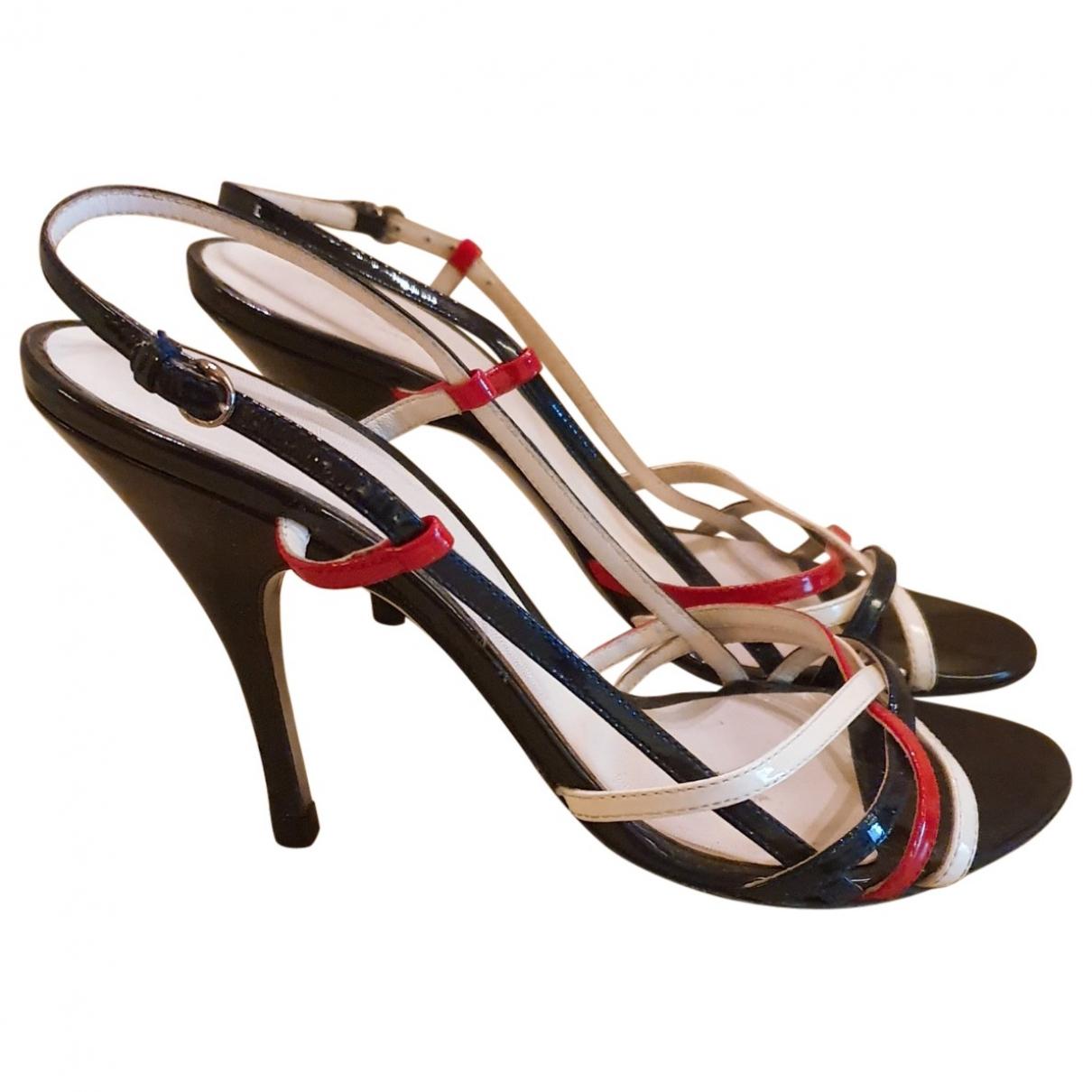 D&g - Sandales   pour femme en cuir verni - multicolore