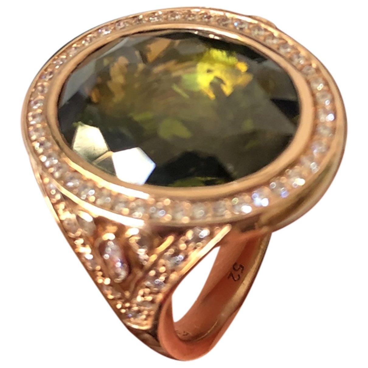 Thomas Sabo \N Ring in  Gruen Silber